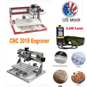 3018 Cnc Machine Router Diy Engraving 5 5w Laser Moudle Pcb Wood Carving Milling