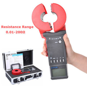Etcr2100a Lcd Digital Clamp On Earth Ground Resistance Tester Meter 0 01 200
