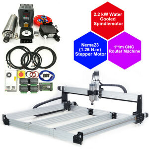 Cnc Router 10x10cm Water Cool 2 2kw Vfd Woodwork Engrave Cutting Machine 110v