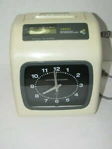Amano Bx6000 Electronic Time Recorder Time Clock With Key Cards Manual
