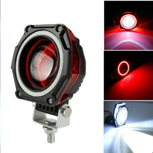 3 Inch Led Work Light Spot Lamp Fog Red Halo Off Road Car Motorcycle Atv