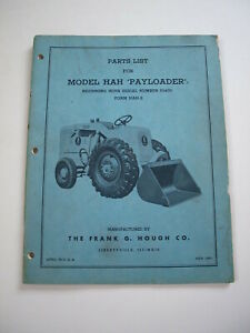 Ih Hough Hah Front end Wheel Pay Loader Tractor Parts Catalog Manual List 51400