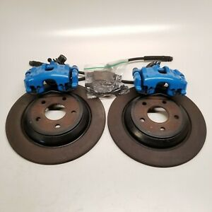 2016 2018 Ford Focus Rs Rear Brake Disc Rotor Blue Brembo Caliper Set Kit Oem