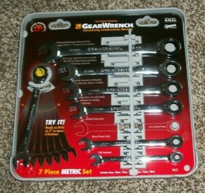 Gearwrench 7 Piece Metric Ratcheting Combination Wrench Set 9417