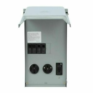 New Ge Rv Electrical Panel With 50 30 Amp Receptacle And 20 Amp Gfci Outlet
