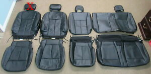 Take Off 2015 2020 Oem Ford F150 Super Crew Black Leather Seat Upholstery
