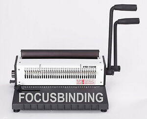 Heavy Duty Manual Wire Binding Machine Comb 15 135 Double o Binder move Pin 3 1