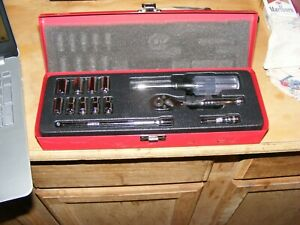 Klein 1 4 Inch Drive Socket Set With Driver Handle And Ratchet 6 Point