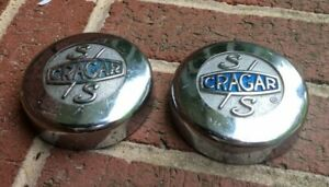 Ss Cragar Set Of Two Vintage Mag Wheels Center Caps