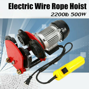 1t Electric Hoist Trolley Pulley Hoisting Point Straight Track All copper Motor