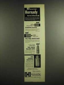 1956 Hornady Bullets Ad Hollow Point Spire Point Round Nose Wadcutter $16.99