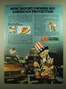 1981 Lee Two Stage MaxiFilters Ad American Protection $16.99