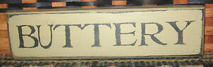 Primitive Country Buttery 10 Shelf Sign