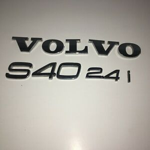 Volvo S40 2 4i 2 4 05 06 07 09 10 11 Rear Trunk Emblem Set Logo Badge Oem Logo