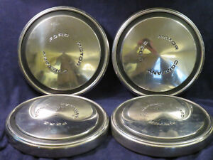 Vintage Ford Dog Dish Hubcaps 1968 69 70 71 72 73 Mustang