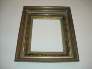 Antique Victorian Deep Walnut And Gold Picture Frame 8 X10
