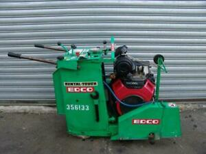 Edco Ss20 20h Honda 20hp Concrete Saw Walk Behind Self Propelled Only 249 Hours