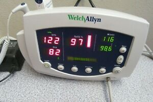 Welch Allyn 300 Series Monitor Includes Stand Basket Spo2 nbp Cuff thermometer
