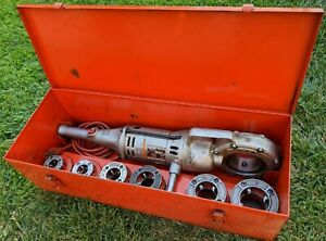 Ridgid 700 Power Pony Threader 1 2 To 2 Inch Die Kit And Ridgid Case Included