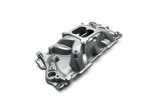 Small Block Chevy Intake Manifold Dual Plane Powder Coated Avenger