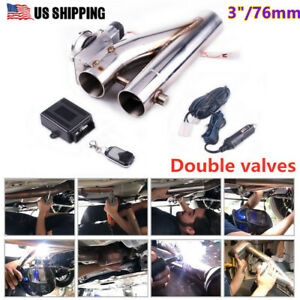Us Exhaust Control Cut Out Dual Valve Electric Y Pipe With Remote Kit 2 5 63mm