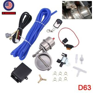 2 5 63mm Wireless Remote Vacuum Exhaust Cutout Valve Controller With Remotes Us
