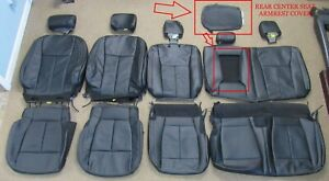 2015 2020 Oem Ford F150 Super Crew Takeoff Black Leather Seat Upholstery Set