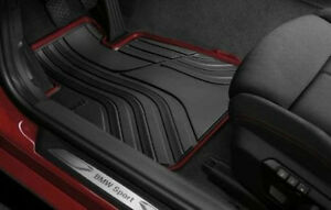 Bmw F22 2 Series 228i M235i Floor Mats Black Red Rubber All Weather Front Oem