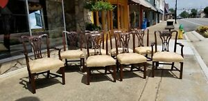 Set Of Eight Dining Room Chairs Crafted In Mount Airy N C 20thc