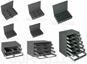 Metal Drawers Small Trays Storage Compartment Parts Fitting Nuts Bolts Garage
