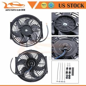 10 Inch 1730 Cfm Plastic Radiator Condenser New Electric Universal Cooling Fan