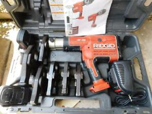 Ridgid Rp330 Propress Battery Pwrd Crimper Crimping Press Tool 1 2 To 2 Jaws
