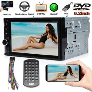 For 95 02 Chevy Tahoe C1500 Truck 2din Dvd Bluetooth Car Stereo Radio Mirrorlink