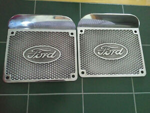 1928 1929 1930 1931 Ford Model A Aluminum Running Board Step Plates With Logo