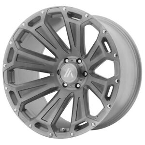 22 Asanti Off Road Cleaver Grey ab813 221263tb40n Set Of 4 Wheels Rims