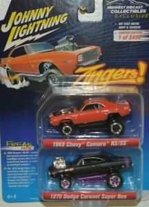 Johnny Lightning Zingers 2 Pack 1969 Camaro Rs ss 1970 Superbee Mdc Exclusive