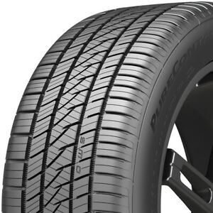 2 New 245 50r17 Continental Purecontact Ls Tires 99 V