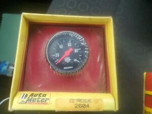 New Factory Sealed Auto Meter 2604 Oil Pressure Competition Street Gauge Vtg