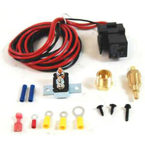Electric Fan Wiring Harness And Relay Kit 185 On 170 Off