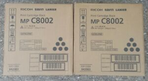 Ricoh Savin Lanier Genuine Copier Toner Black Cartridge Mp C8002 842083 X2 Oem