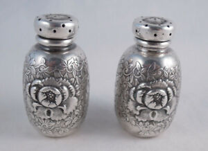 Whiting Sterling Silver Salt And Pepper Shakers Aesthetic Orientalist