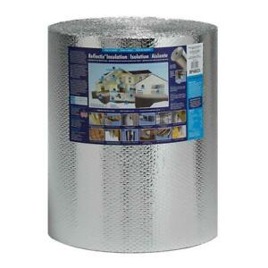 Double Reflective Insulation Roll 24 In X 100 Ft Staple Tab Edge Lightweight