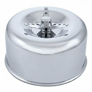 2 5 8 In Dual Barrel Chrome Short Neck Smooth Air Cleaner W 3 Wing Screw