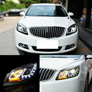 For Buick Excelle Verano Gt 2010 2014 Hid Led Drl U Style Angle Halo Headlamp