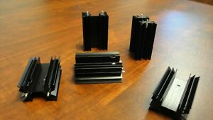 Lot Of 180 Large Black Anodized Aluminum Heat Sinks For Transistor Or Triac