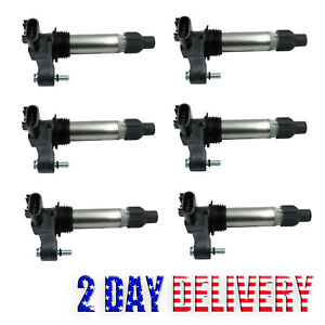 Pack Of 6 Ignition Coils Uf569 For Buick Lacrosse Cadillac Ats Chevy 3 6l In V6