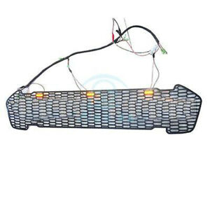 For Ford Ranger T6 2015 16 1pc Black Front Grille Vent With Yellow Led
