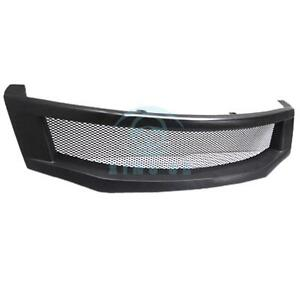 Matte Black Resin Front Grille Retrofit For Honda Accord 8th 2008 2010