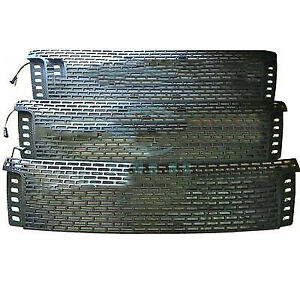 For Ford Ranger T6 2012 2014 Black Front Grille Replace Trim With Led K