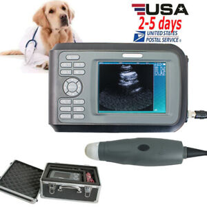 Fda Veterinary Medical Animals Ultrasound Scanner Machine 3 5mhz Sector Probe Ce